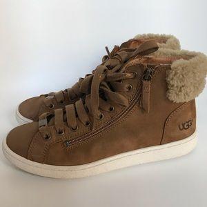 UGG chestnut brown high top sneakers-8